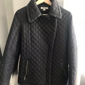 Dkny Jackets & Coats - DKNY quilted winter coat with leather trim XS